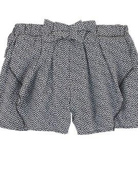 3pommes & B-Karo Grey Polka Dot Short Skirt