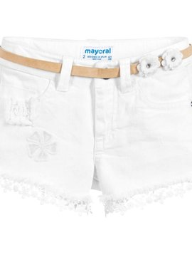 Mayoral Emboridered Lace Shorts