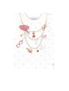 Mayoral Charm Necklace Tank Top
