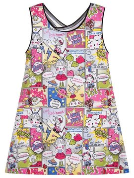 Mayoral Comic Cartoon Printed Dress