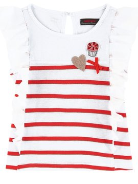 Catimini Ruffle Stripe Top