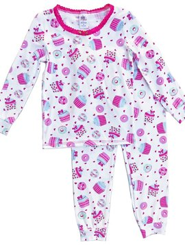Esme Loungewear Cupcake Long Sleeve Pajamas