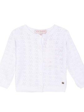 Lili Gaufrette White Pointelle Sweater