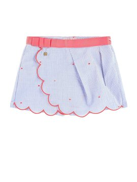 Lili Gaufrette Seersucker Embroidered Short