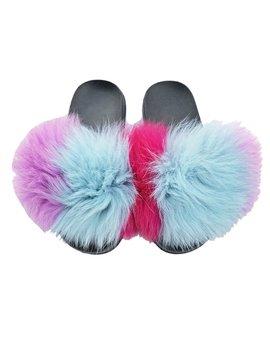 Sugar Bear Kids Fur Slide - Cotton Candy