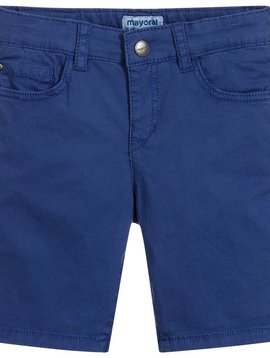 Mayoral 5 Pocket Cotton Short - Blue