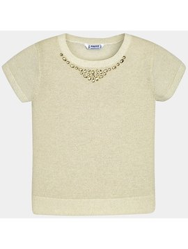 Mayoral Gold Knit Jewel Top