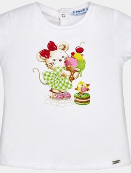 Mayoral Cute Mouse w Ice Cream Tee