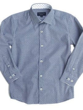 Leo & Zachary Dress Shirt - Marino Octagons