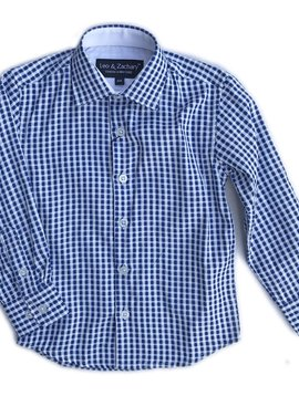 Leo & Zachary Dress Shirt - French Blue Check