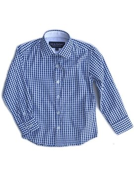 Leo & Zachary Dress Shirt - French Blue Check