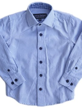 Leo & Zachary Dress Shirt - Powder Blue Point