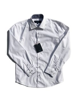 Leo & Zachary Dress Shirt - White w/ Paisley