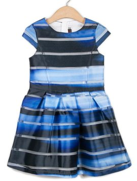 Catimini Blue Stripe Organza Dress