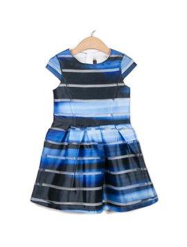 Catimini Blue Stripe Organza Dress