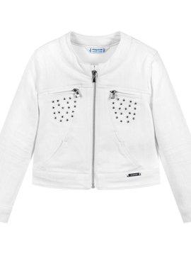 Mayoral White Studded Denim Jacket