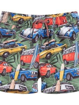 Mayoral Car Print Swimsuit