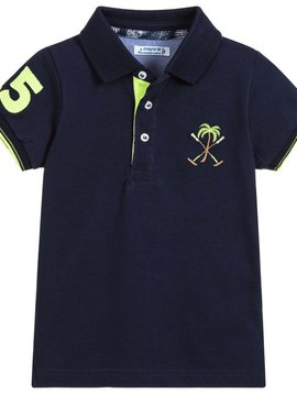 Mayoral Navy Pique Polo Palm Tree