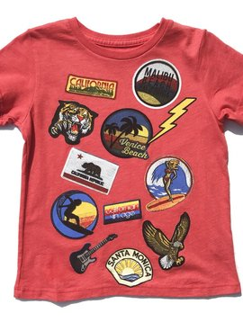 Californian Vintage Surf Patches T-Shirt