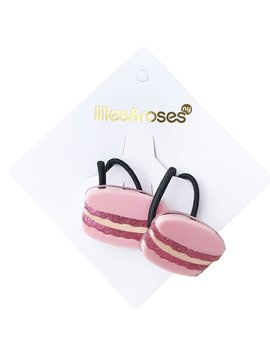 Lilies and Roses Ponytail - Pink Macarons