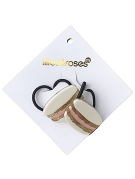 Lilies and Roses Ponytail - White Macarons
