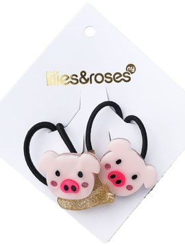 Lilies and Roses Ponytail - Pig