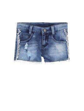 3pommes & B-Karo Cotton Denim Shorts w Pompoms
