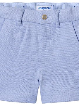 Mayoral Blue Oxford Knit Shorts
