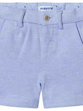 Mayoral Blue Oxford Knit Shorts