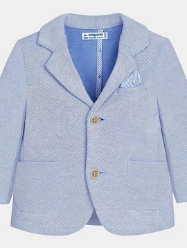 Mayoral Blue Oxford Knit Blazer