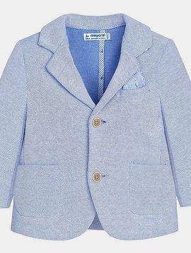 Mayoral Blue Oxford Knit Blazer