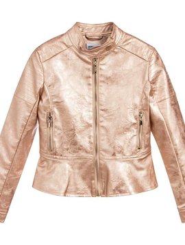 Mayoral Rose Gold Leather Jacket