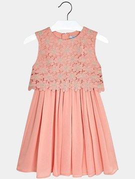 Mayoral Pink Floral Lace Dress