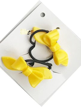 Lilies and Roses Ponytail - Bows - Yellow