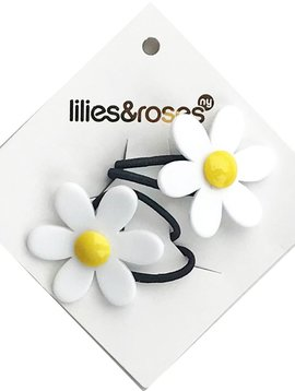 Lilies and Roses Ponytail - Yellow Daisy