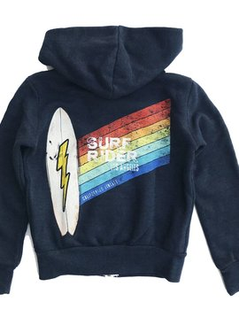 Californian Vintage Surf Rider Zip-Up Hoodie