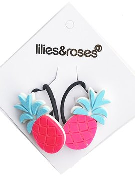 Lilies and Roses Ponytail - Pineapple Pink