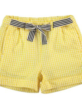 molo Alenna Short - Yellow Seersucker