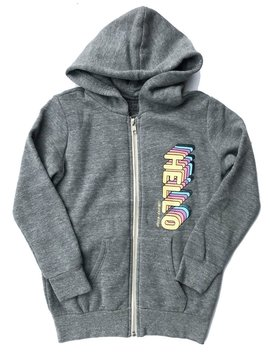 Californian Vintage Hello - Goodbye Zip Hoodie