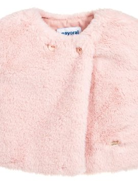 Mayoral Pink Fur Vest - Mayoral Clothing