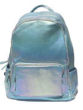 Bari Lynn Blue Rainbow Shimmer Backpack - Bari Lynn Accessories