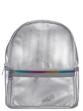 Iscream Silver Metallic Mini Backpack - I-Scream