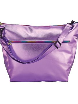 Iscream Purple Metallic Weekender Bag - I-Scream