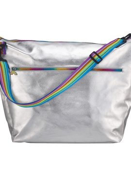Iscream Silver Metallic Weekender Bag - I-Scream