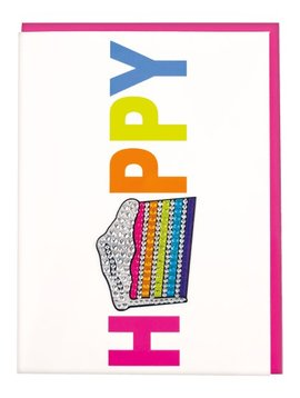Iscream Slice of Cake Rhinestone Decal Card - I-scream