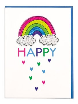 Iscream Rainbow Rhinestone Decal Card - I-Scream