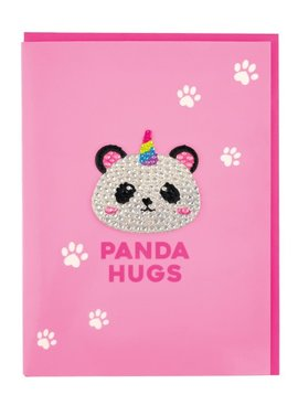 Iscream Panda Rhinestone Decal Card - I-Scream