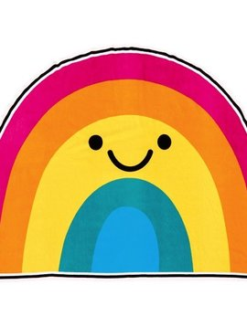 Iscream Rainbow with a Smile Oversized Towel - I-Scream