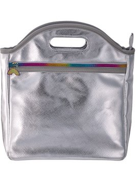 Iscream Silver Metallic Lunch Tote - I-Scream