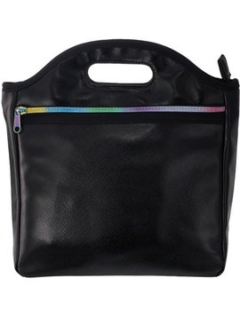 Iscream Black Metallic Lunch Tote - I-Scream